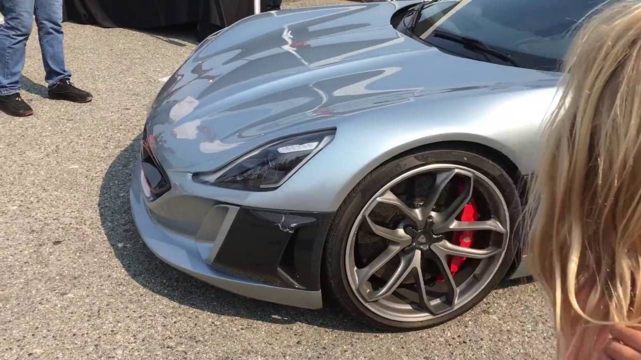 First Electric Supercar Rimac Concept One At Car Week First Time In A