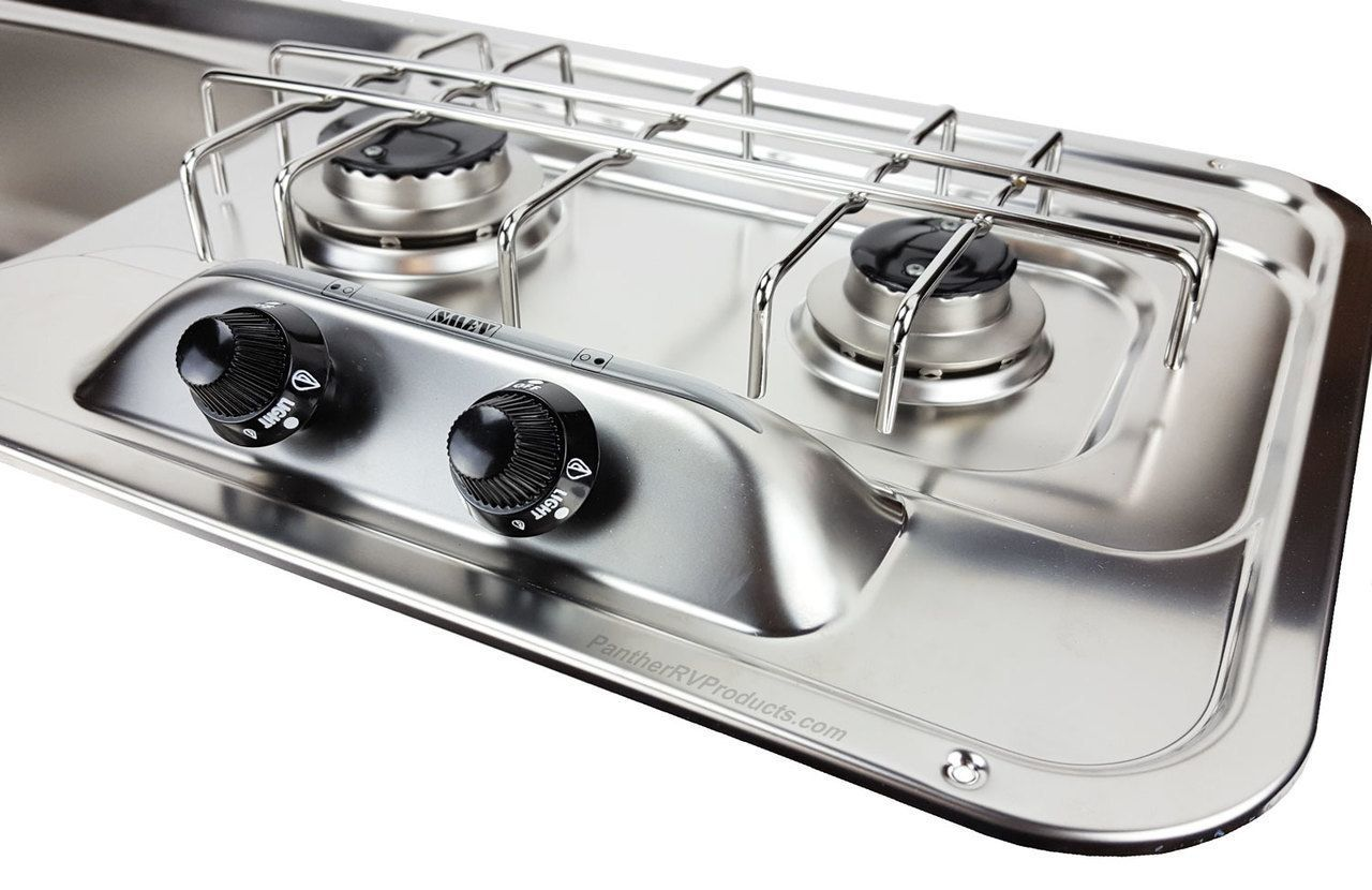 Smev Mo0911 Combo 2 Burner Propane Cooktop With Sink Cooktops Cooktop Kitchen Stove Cook Top Stove