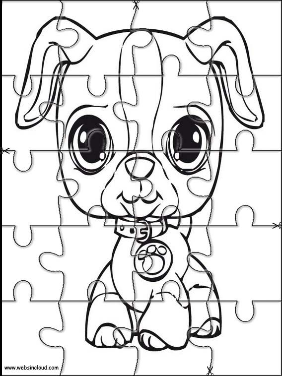 Printable jigsaw puzzles to cut out for kids Littlest pet