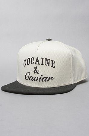 Crooks and Castles The Coca Caviar Snapback Hat in White  amp  Black  Snapback baseball cap c5c47b064d0d
