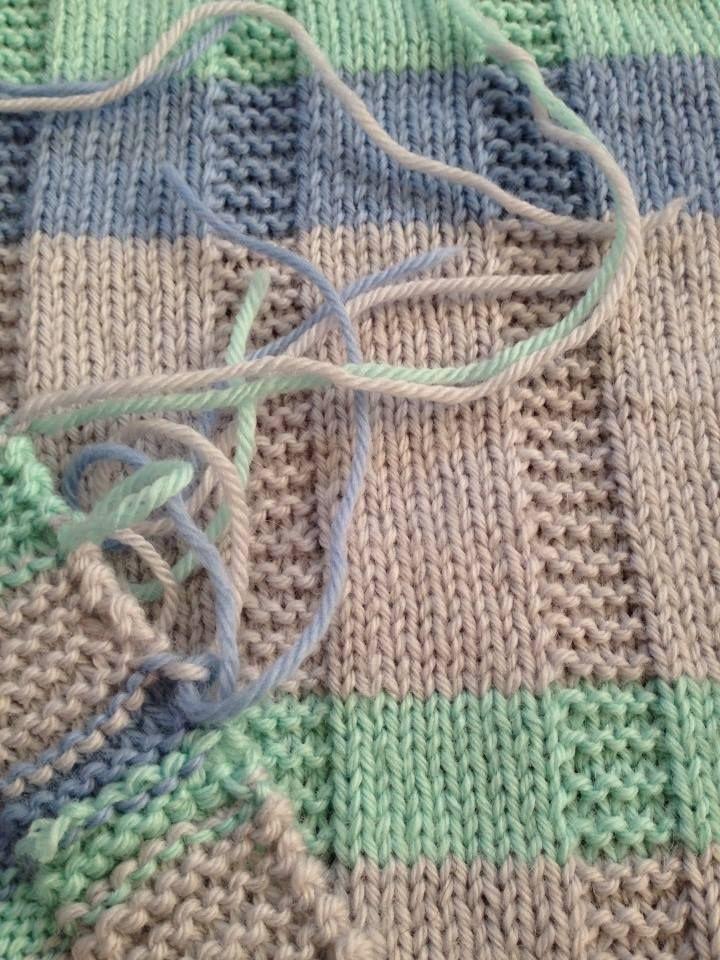Simple striped baby blanket --Free Pattern | Вязание | Pinterest ...