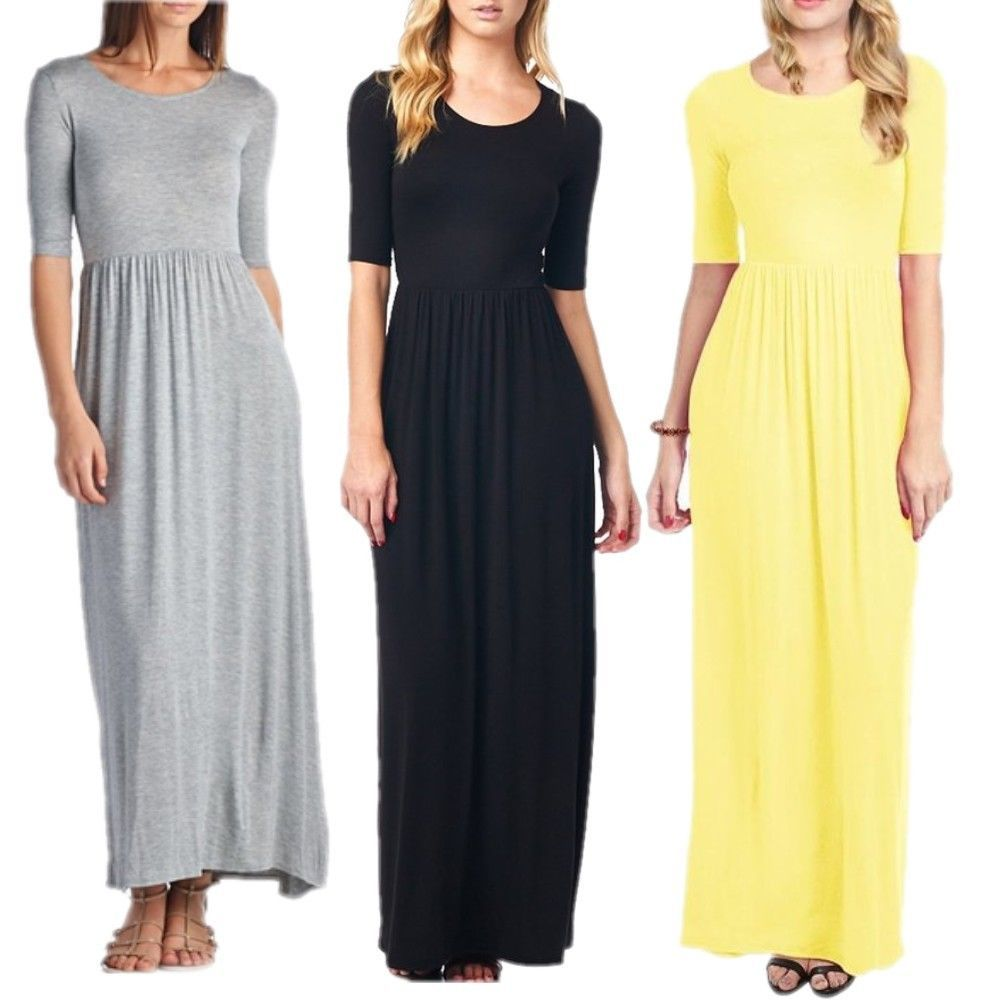 Vintage long sleeve casual maxi boho dress long evening cocktail