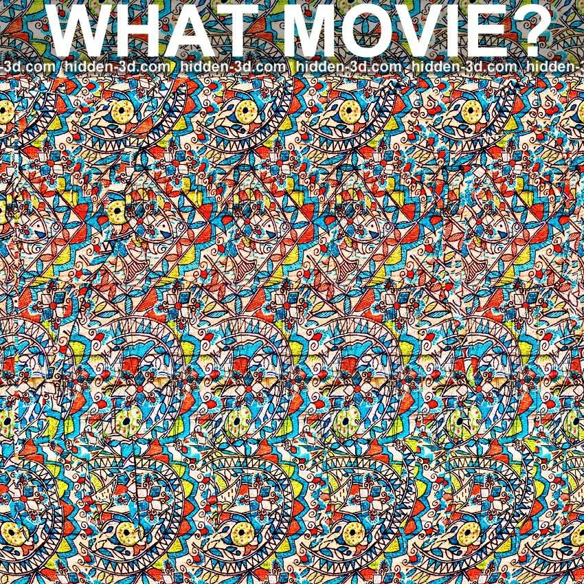 Stereogram By 3Dimka: Guess The Movie. Tags: Puzzle Movie