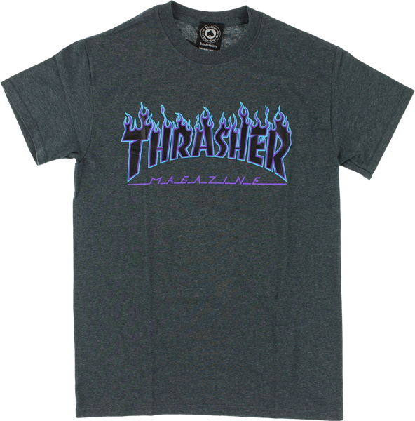 Thrasher Magazine Flame Logo T Shirt (Available in 5 Colors