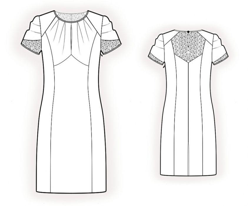 LekalaDress With Chiffon Insets - Sewing Pattern #4193