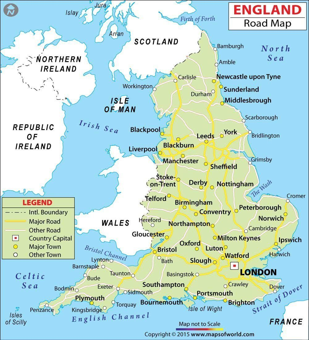 Road Map Of England And Wales With Towns.Mow Amz On Maps England Map Map Of Britain Map