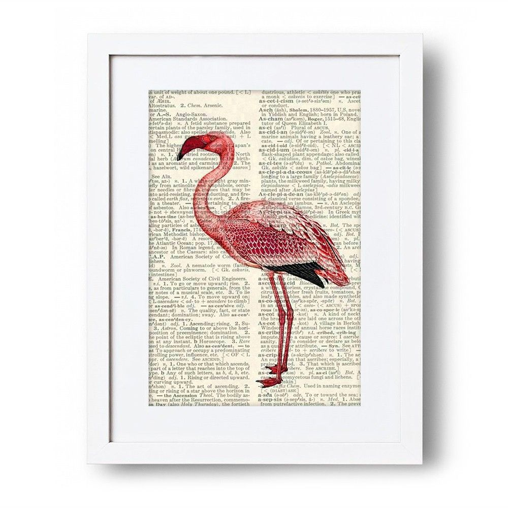 Tall Flamingo Wall Art - Vintage Room - on Temple & Webster today.
