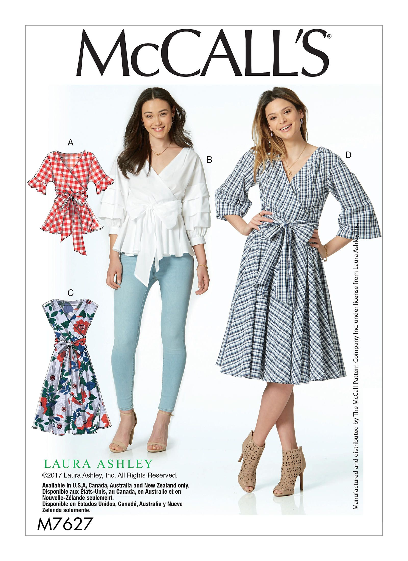 M7627   McCall\'s Patterns Early Fall 2017   It\'s a Wrap!   Pinterest ...