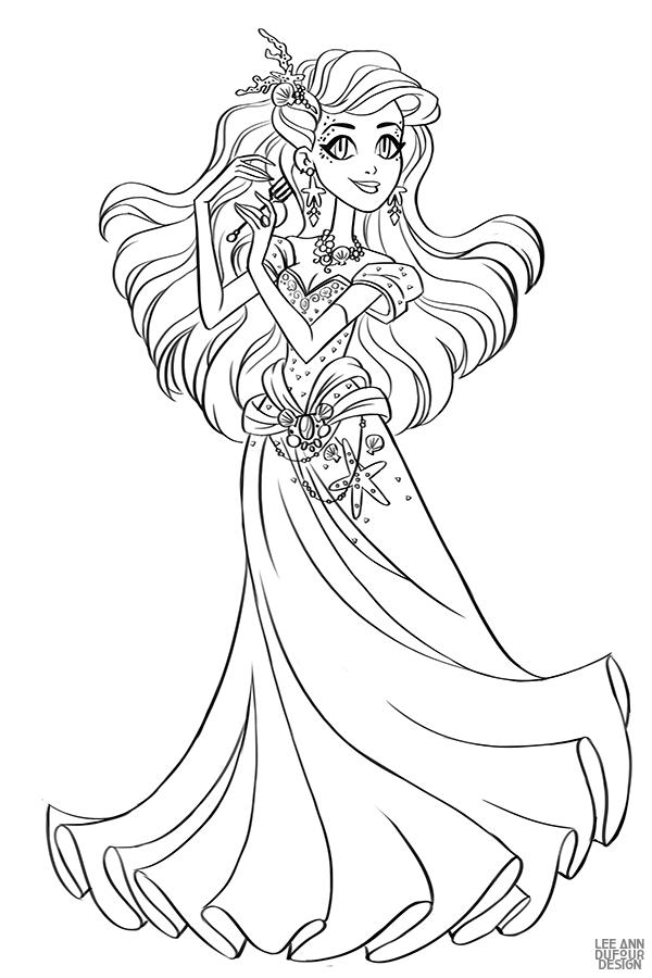 Раскраска Дисней Принцесса Ариэль | Раскраски, Раскраски ...