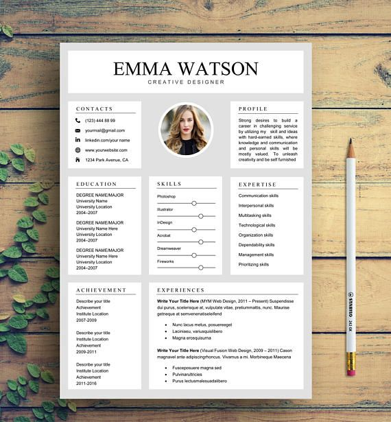 Resume Template Professional Resume Template Instant Resume - instant resume templates