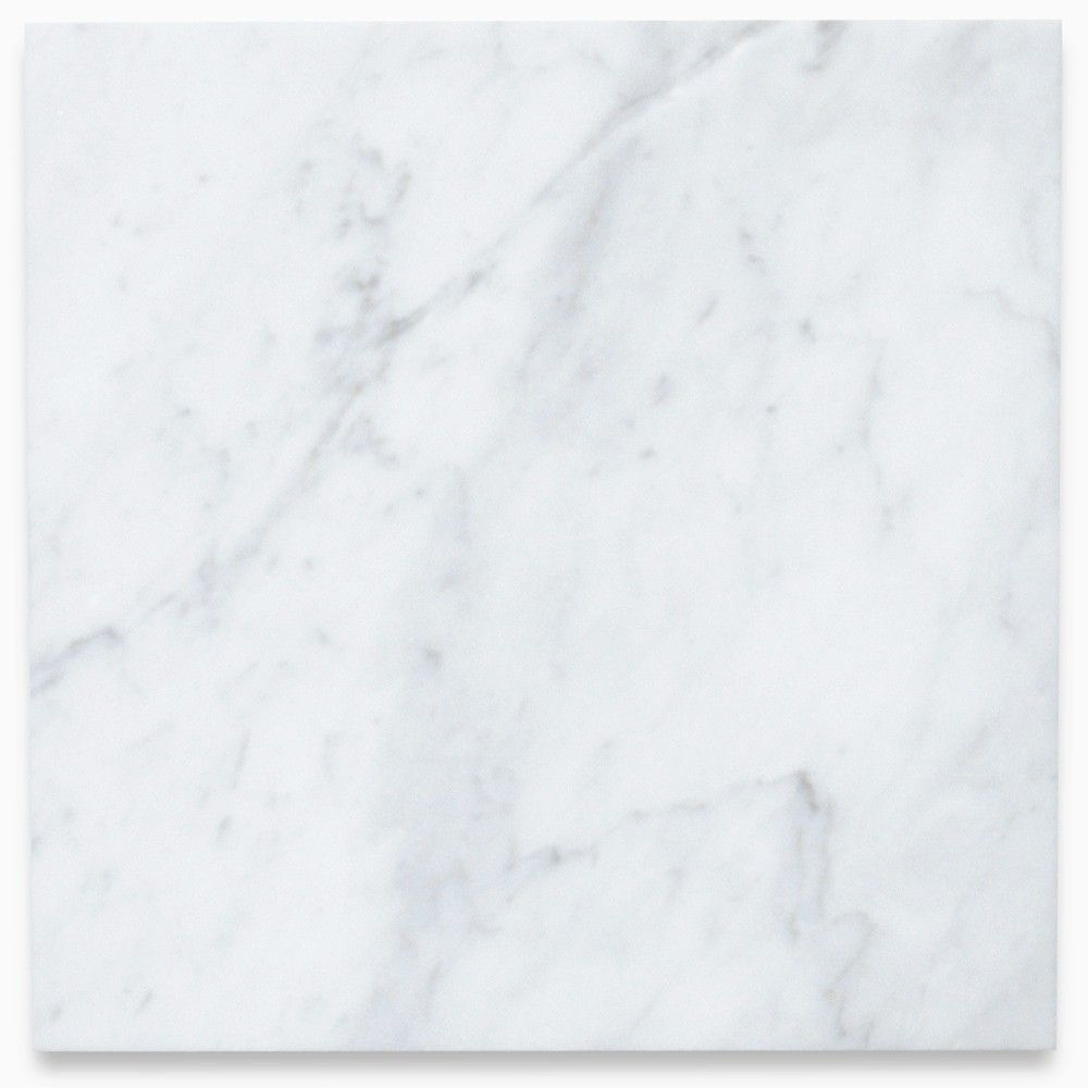 Carrara White 12x12 Tile Polished Marble From Italy With Images White Marble Tiles Carrera Marble White Marble