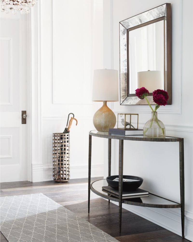 Beautiful Clairemont Demilune Console Table | Crate And Barrel