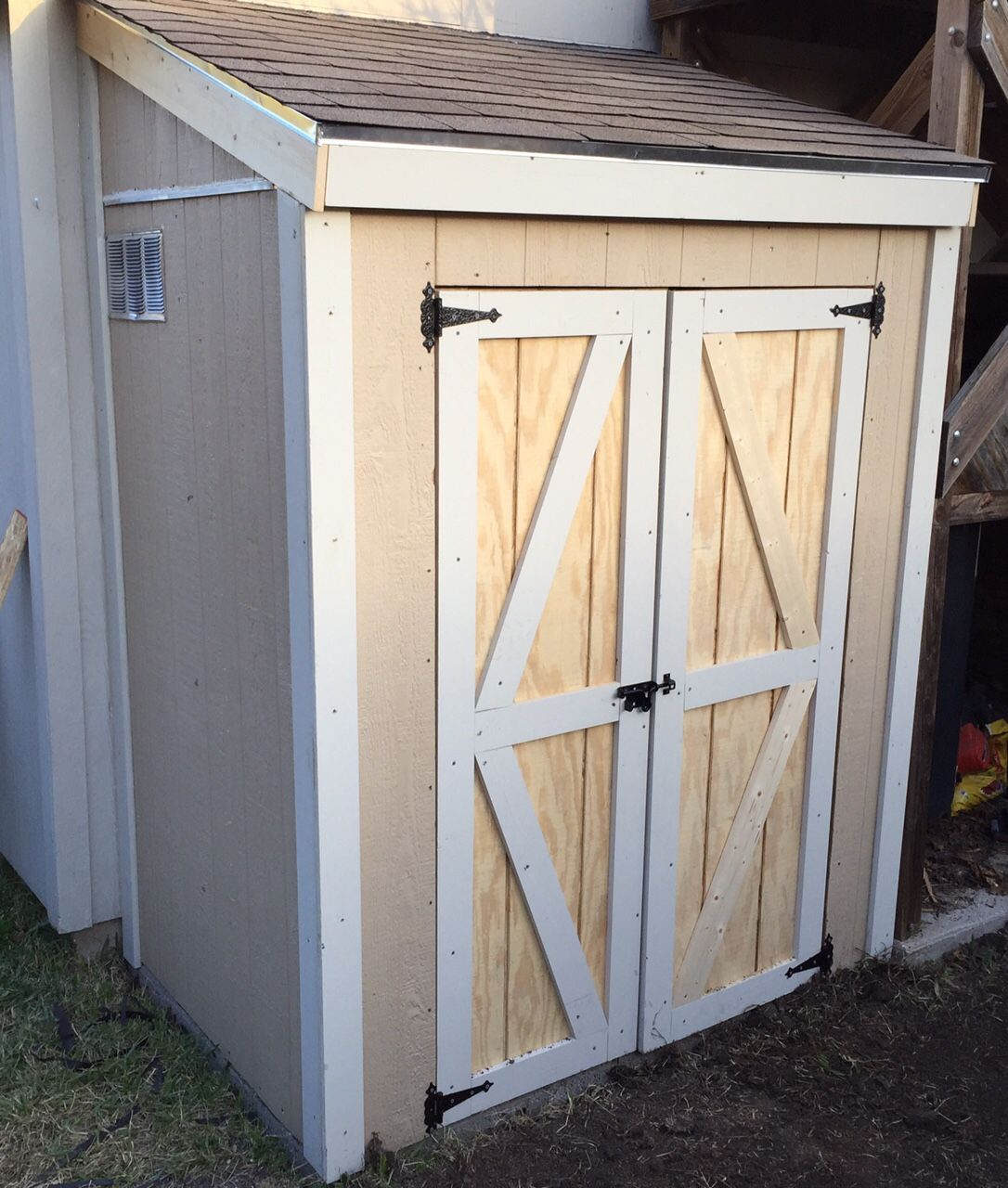 Building A Lean To Roof And Double Doors Woodworking