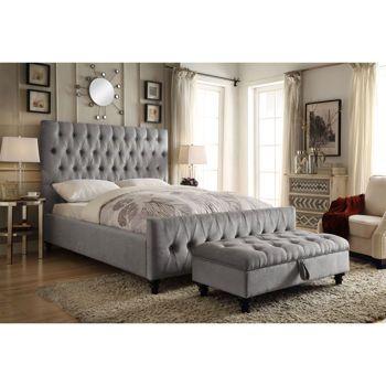 Celeste Grey Upholstered Bed Grey Upholstered Bed Redecorate