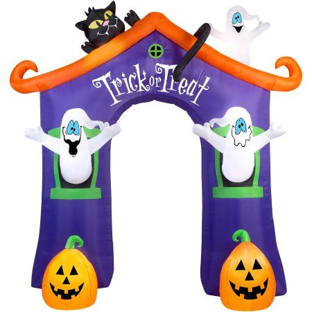 Gemmy Airblown Inflatable 9 X 8 5 Archway Ghost House Halloween