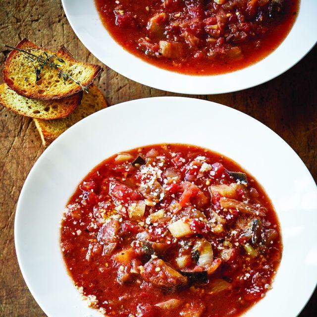Tomato & Eggplant Soup