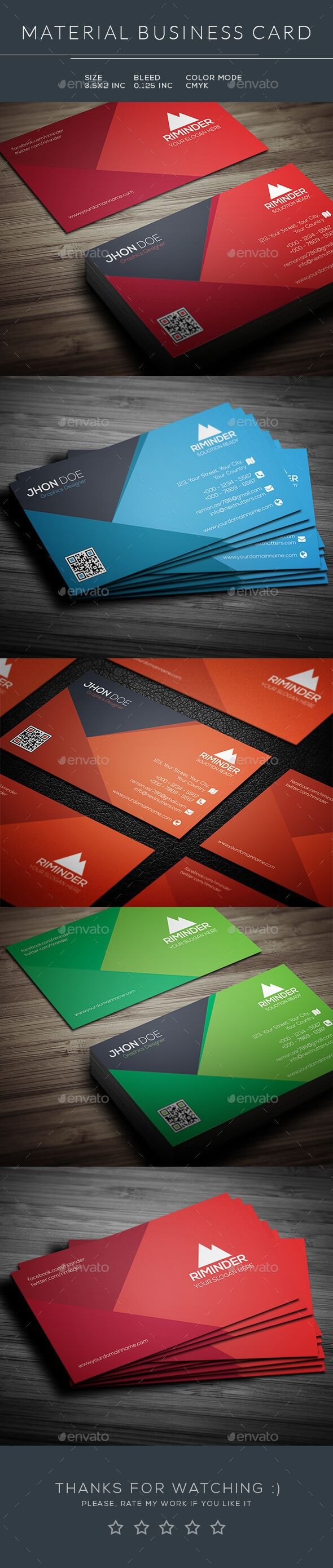 Material business card print templates business cards and template material business card photoshop psd print template modern template available here flashek Gallery