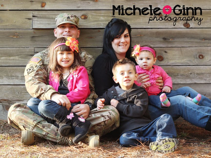 Military family outdoor photography
