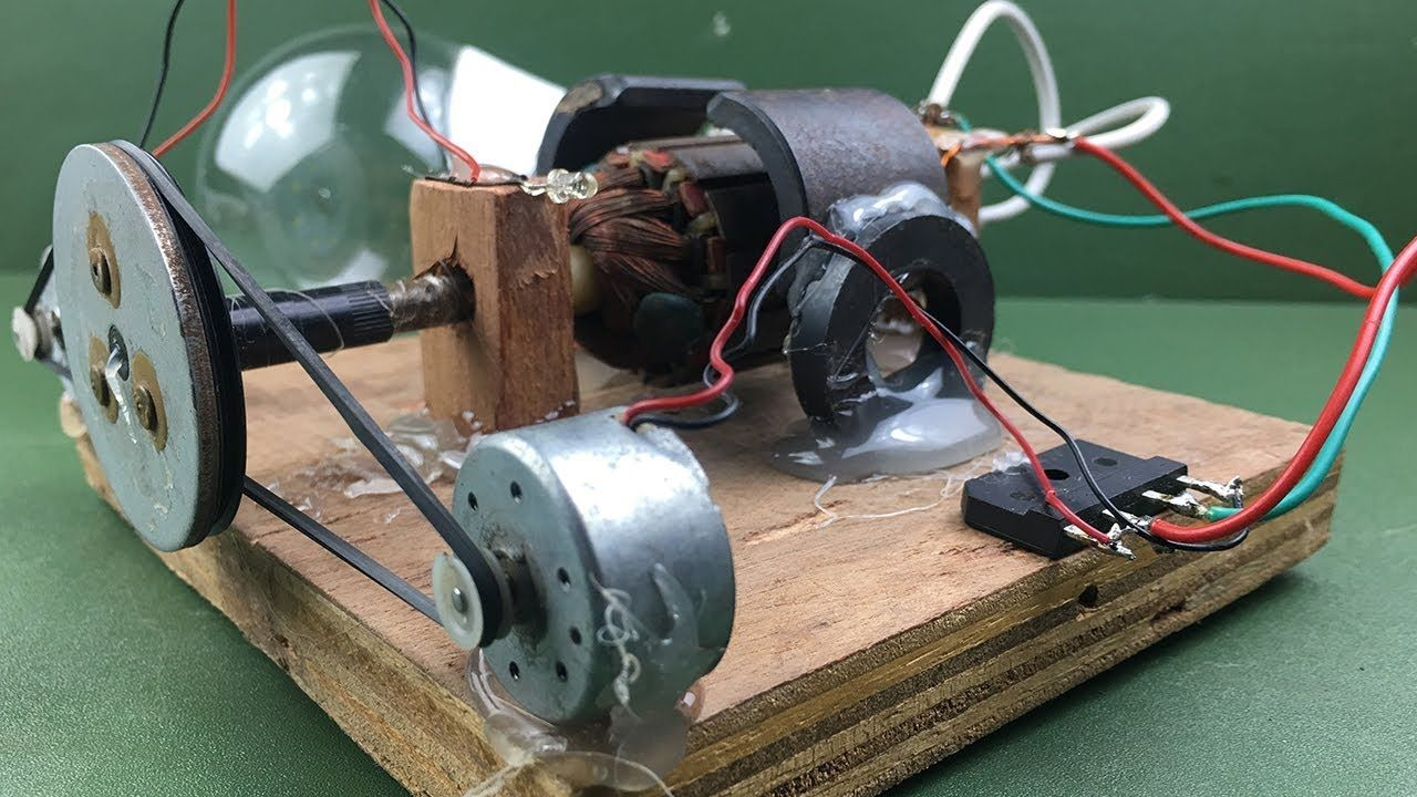 How To Make Electricity A Free Energy Generator Dc Motor At Home
