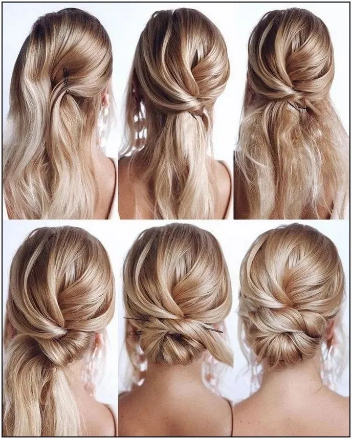 136 Instant Bun Tutorials For Last Minute Office Calls 43 Cynthiapina Me In 2020 Easy Homecoming Hairstyles Long Hair Styles Hair Styles