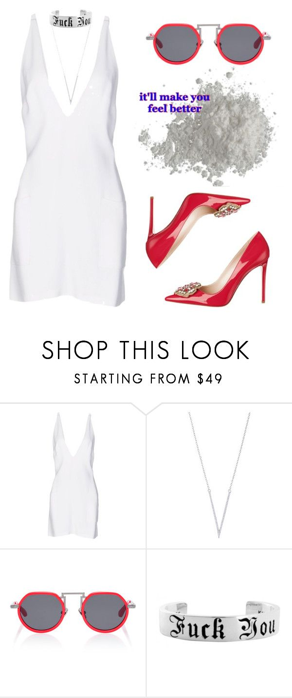 """Class"" by selinmavi ❤ liked on Polyvore featuring Christopher Kane and Rosie Assoulin"
