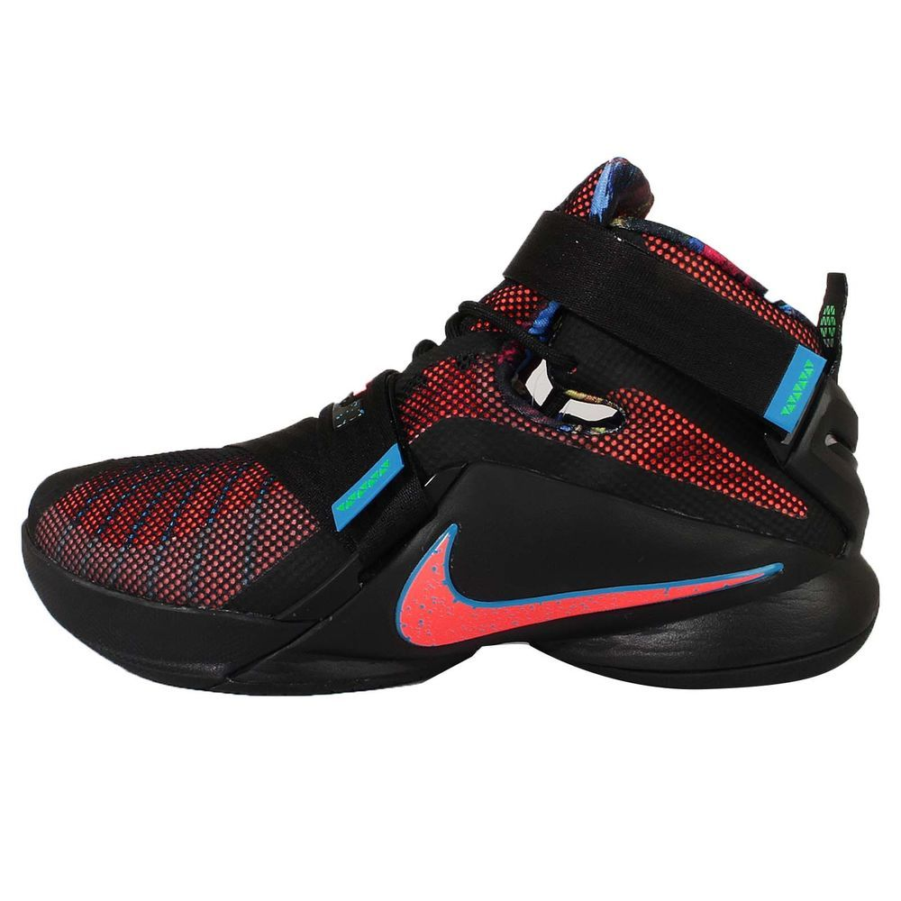 1333b2093a30 Nike Lebron Soldier IX EP 9 James Black Orange Mens Basketball Shoes  749420-084