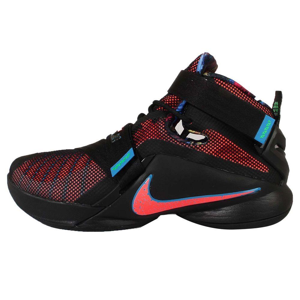 Nike Lebron Soldier IX EP 9 James Black Orange Mens Basketball Shoes  749420-084