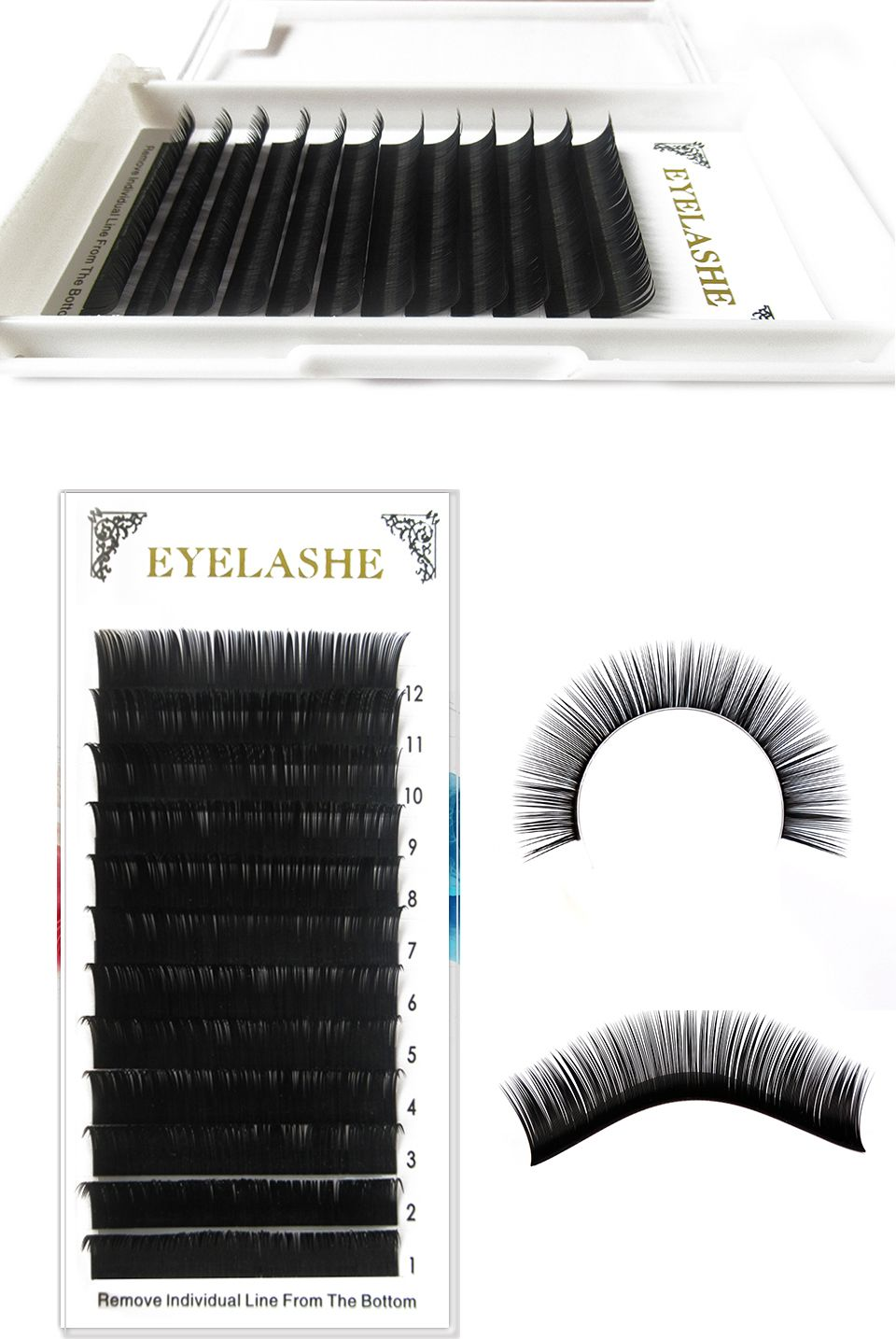 Permanent False Eyelash Extension Kits 12 Linestray Wimper