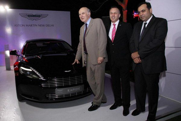 Aston Martin showcases four dour Rapide at Great British Garden Party