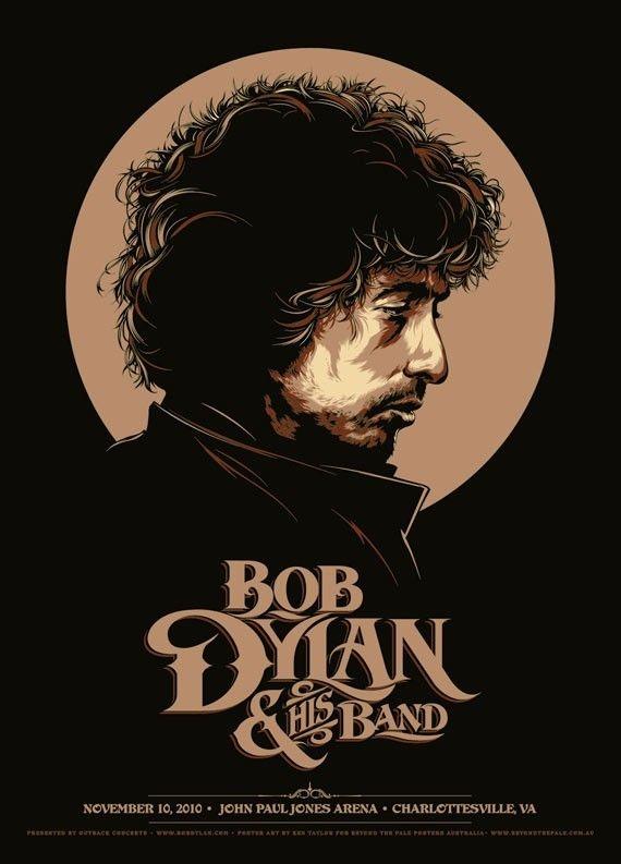 Bob Dylan concert poster.