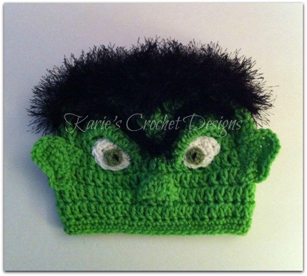 83fb4706639 INCREDIBLE HULK Crochet Hat - this looks like hulk