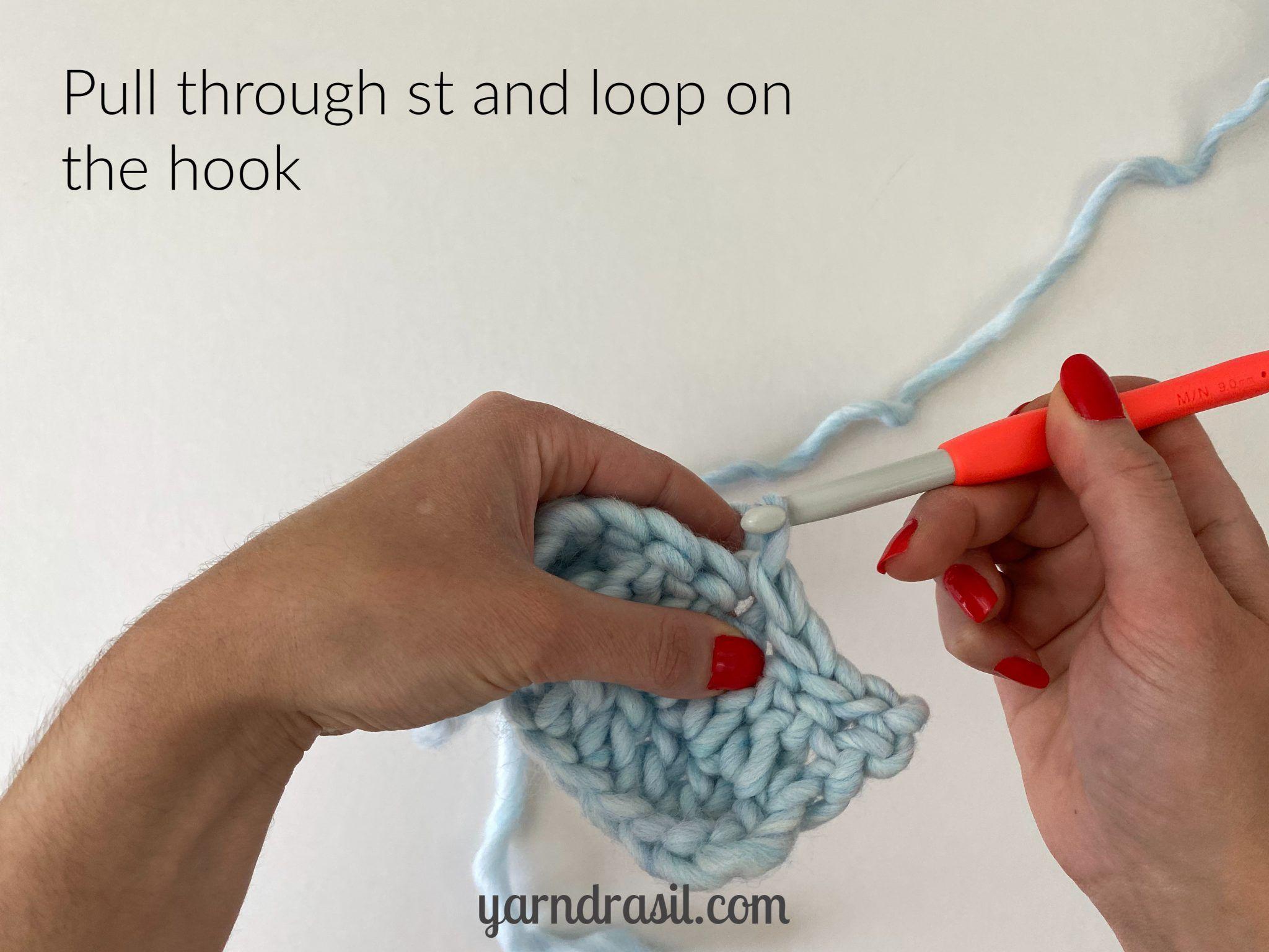 Slip stitch (sl st) | Yarndrasil | Free Crochet Tutorial for Beginners