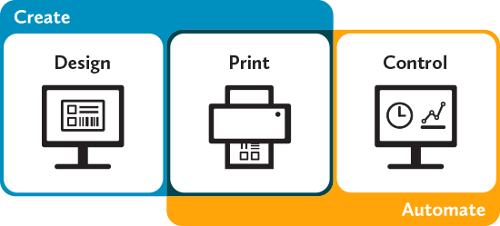 Barcode Software Label Design Label Printing Rfid Encoding Card Printing Bartender By Seagull Scient Label Software Label Making Software Printing Labels