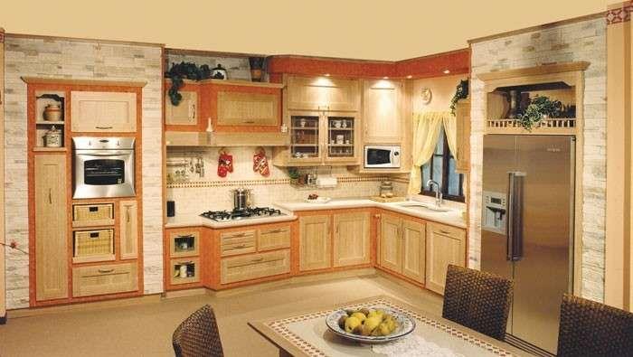 Cucine in finta muratura - Cucina arancio   Kitchens