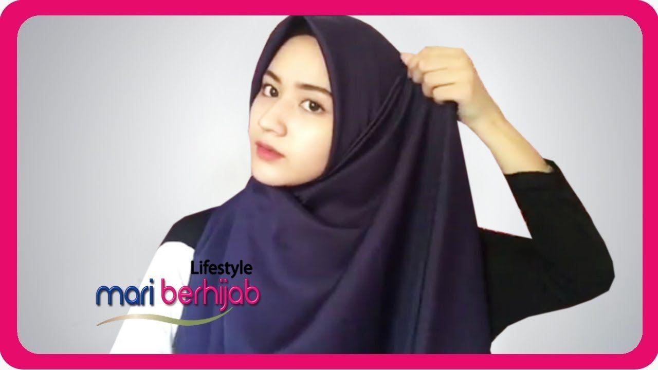 6 Model Gaya Cara Pakai Hijab Segiempat Simple Untuk Sehari Hari Lifestyle Mari Berhijab Hijab Hijab Tutorial Jilbab