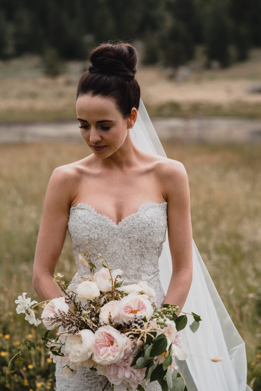A Mountain Ranch Chic Wedding Day Filled With Butterflies Hairdo