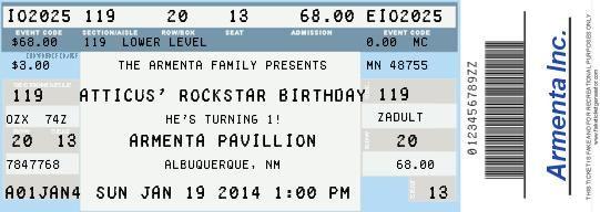 Baby Boy First Birthday Birthday Party Rock Star Theme