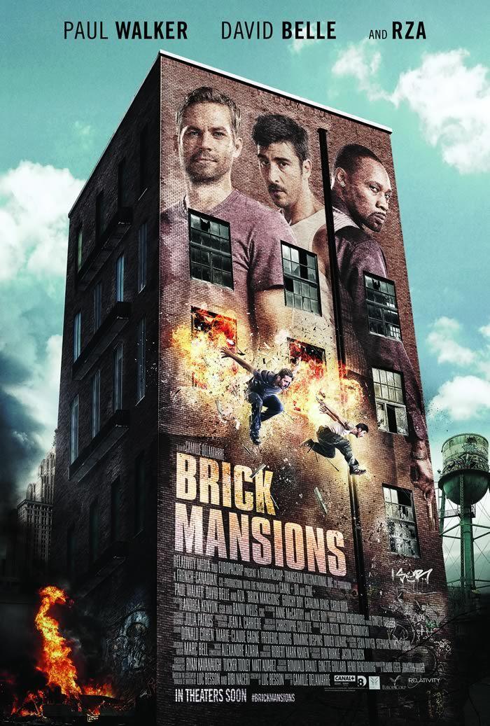 Paul Walker Film Brick Mansions Trailer Poster Image Brick Mansions 2014 Paul Walker Streaming Movies