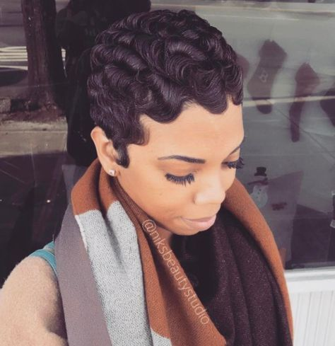 13 Easy Finger Waves Hair Styles You Will Want To Copy Hair Waves Finger Waves Short Hair Finger Wave Hair