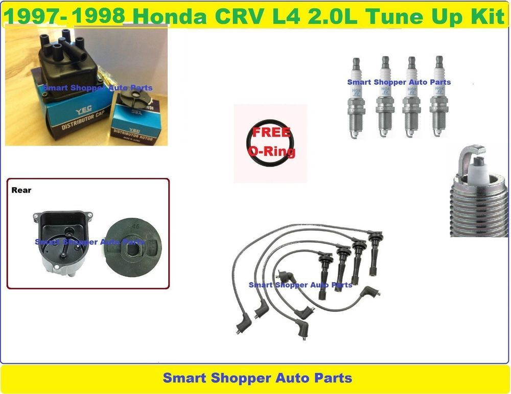 1997 1998 Honda Crv Tune Up Kit Spark Plug Wire Set Distributor