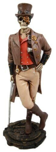 Ebros Gift Steampunk Skeleton Costume Gentleman Figurine 8.75