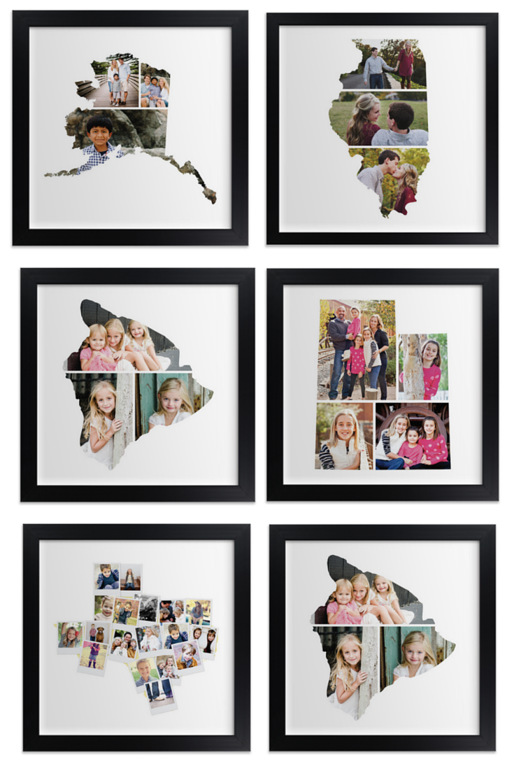 Love This Gift Idea Photos Are Collaged Into State