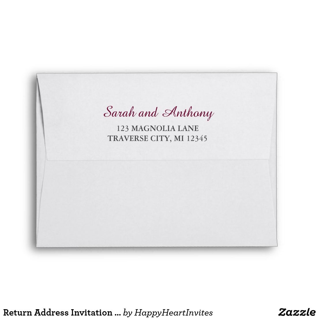 Return Address Invitation Mailing Envelope Zazzle Com Wedding Invitation Envelopes Fun Wedding Invitations Invitations