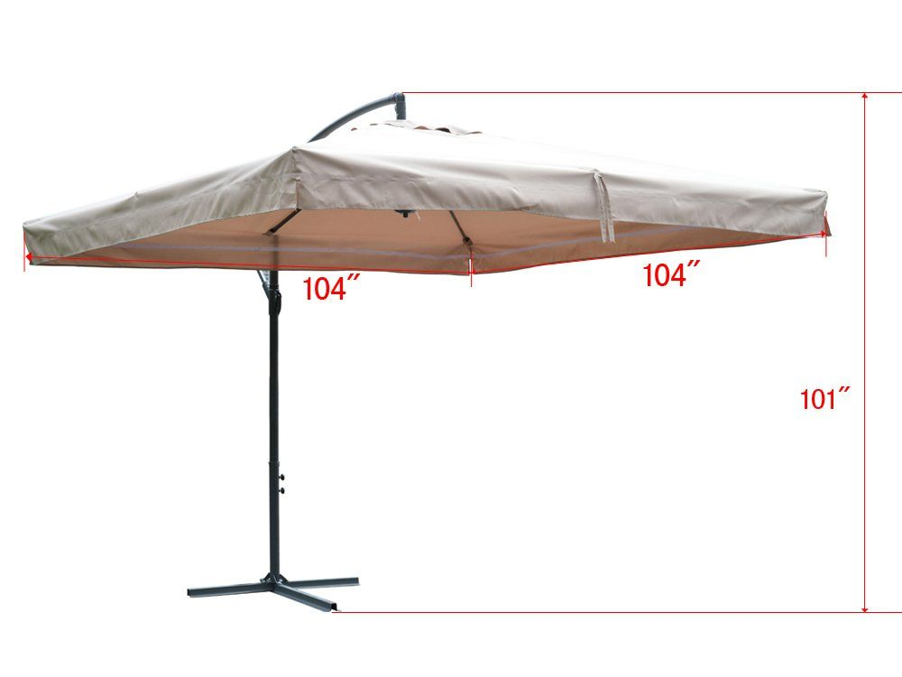 Tms Offset Umbrella With Removable