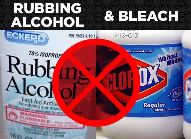 Rubbing Alcohol + Bleach = Chloroform | Homedea | Rubbing