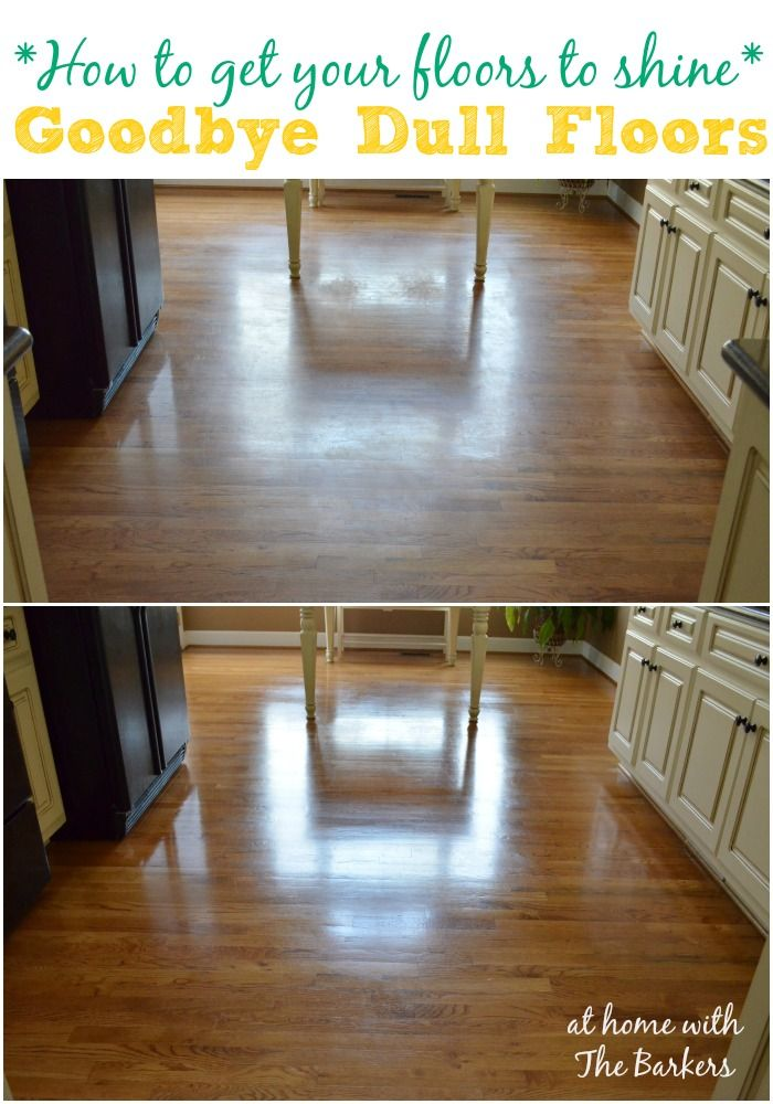 how to clean hardwood floors shiny