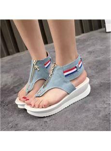 200d4cd8340d2 Adorably Cool Denim Flip Flops for Ladies