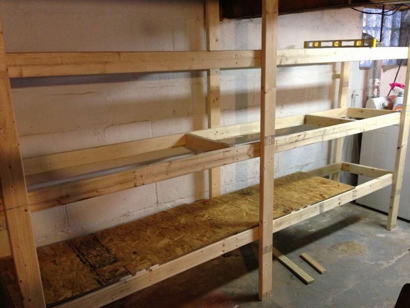 Diy garage shelving decor ideas basement shelving