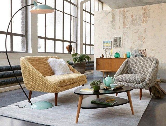 Coup De Le Petit Canapé Vintage Semeon Salons Archi Design - Canapé et fauteuil scandinave