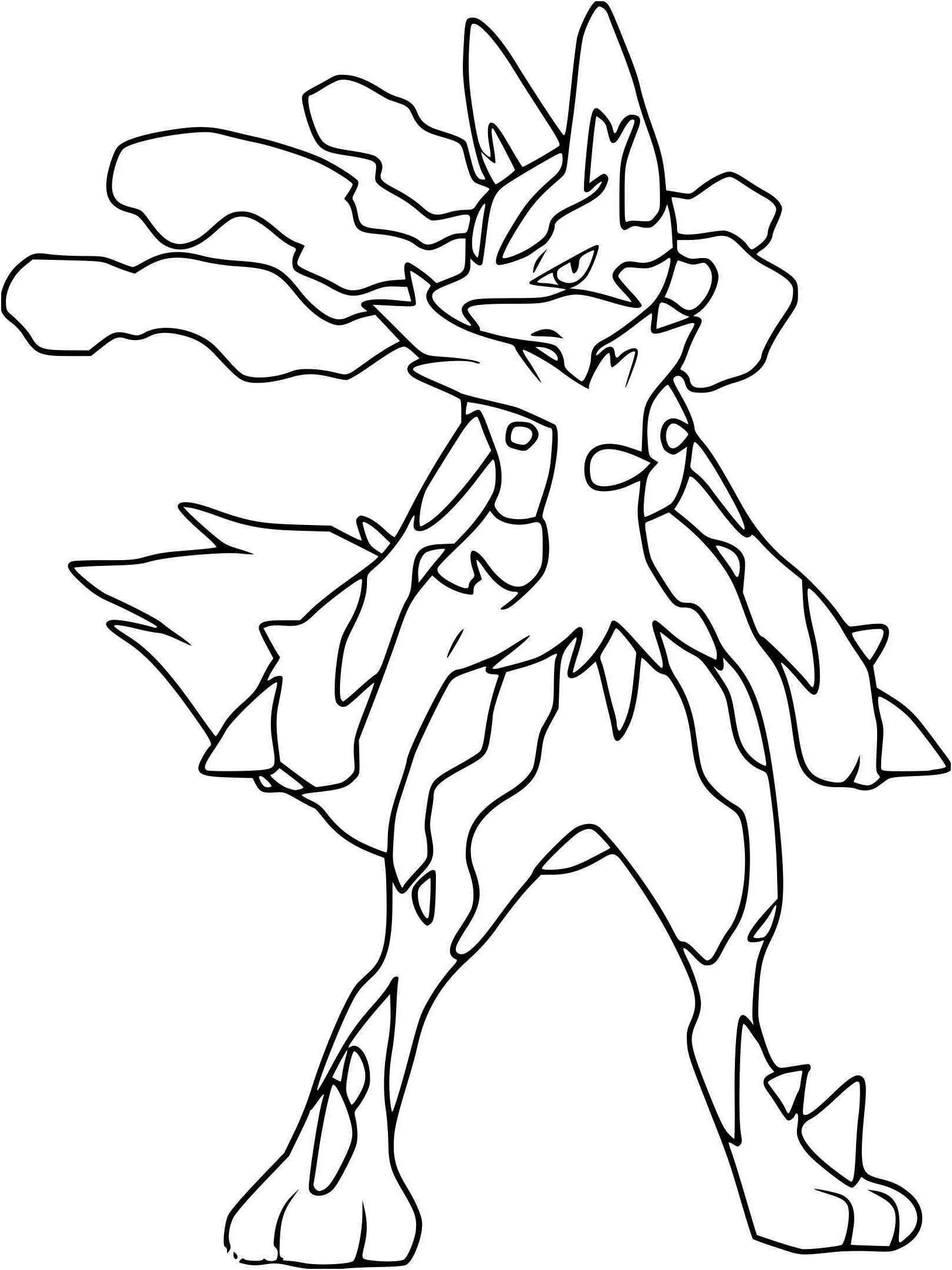 Coloriage Pokemon Lucario Coloriage Pokemon Lucario